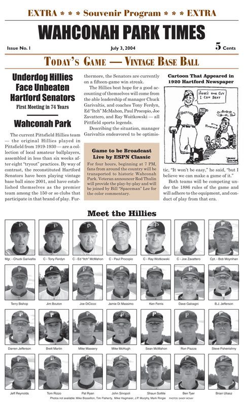 Wahconah Park Times